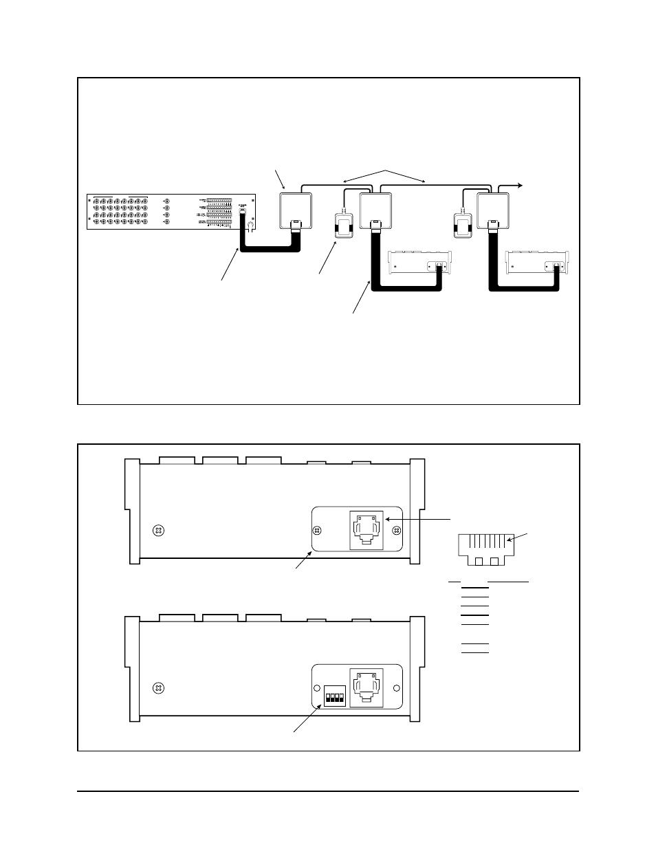 figure 3 keyboard cabling diagram  figure 4 keyboard rear panel  cm6700 scu pelco kbd300 Manuals in PDF Instruction Manual Book
