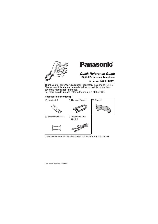 Panasonic Kx Dt321 Digital Phone Manual Guide