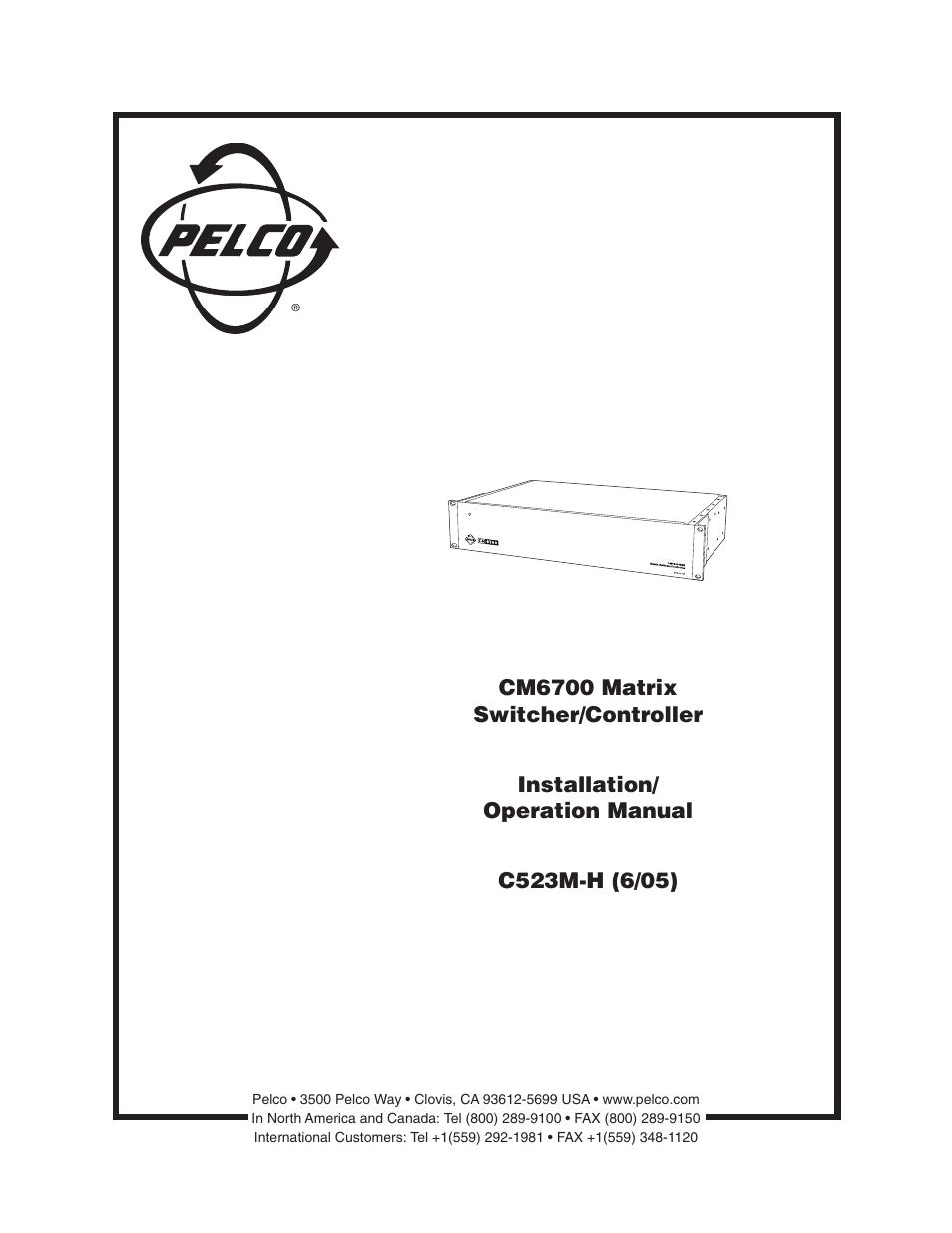pelco cm6700 user manual 44 pages rh manualsdir com