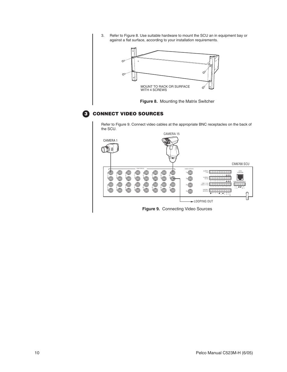 3connect video sources figure 8 mounting the matrix switcher rh manualsdir com pelco cm6700-mxb manual