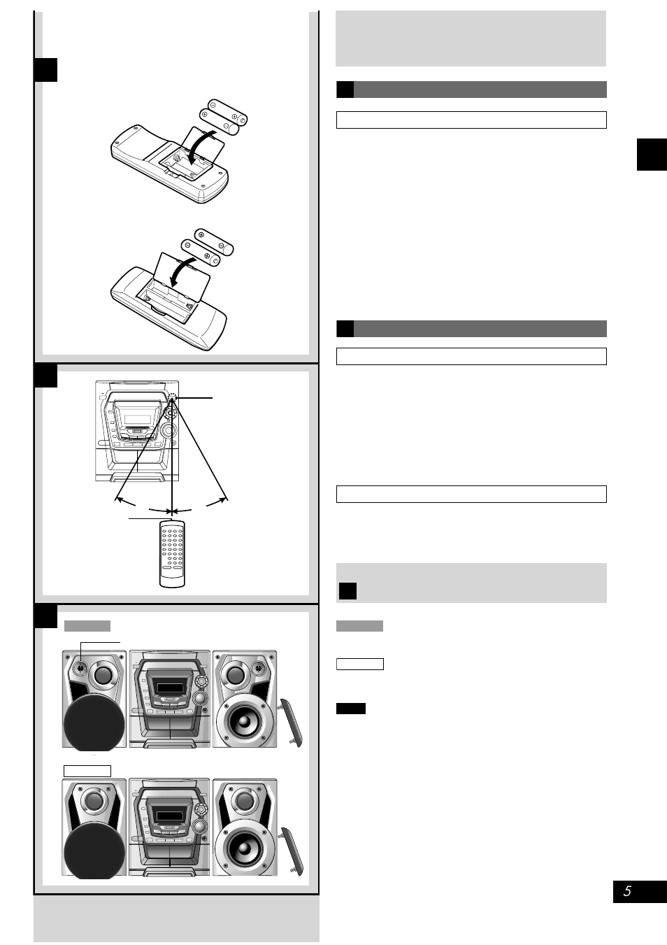 Concerning The Remote Control Battery Installation Correct Method Using Body Fluids Of Use Placement Speakers