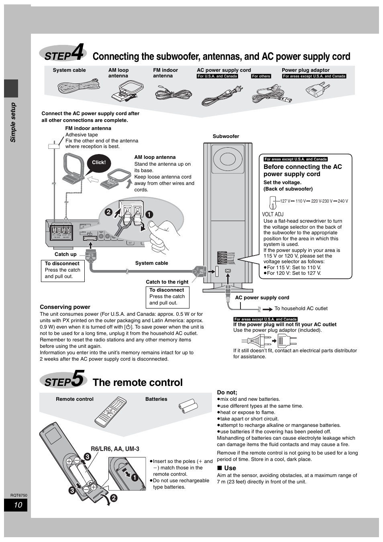 step 5 the remote control step4 step5 panasonic sc ht900 user rh manualsdir com sc-ht900 manual sa ht900 service manual