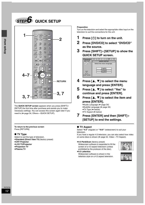 step 6 quick setup step6 step panasonic sc ht900 user manual rh manualsdir com  panasonic sa-ht 900 service manual