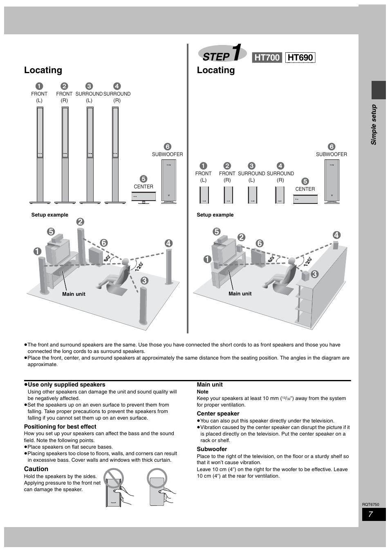 step locating panasonic sc ht900 user manual page 7 44 rh manualsdir com sa-ht900 manual sc-ht900 manual