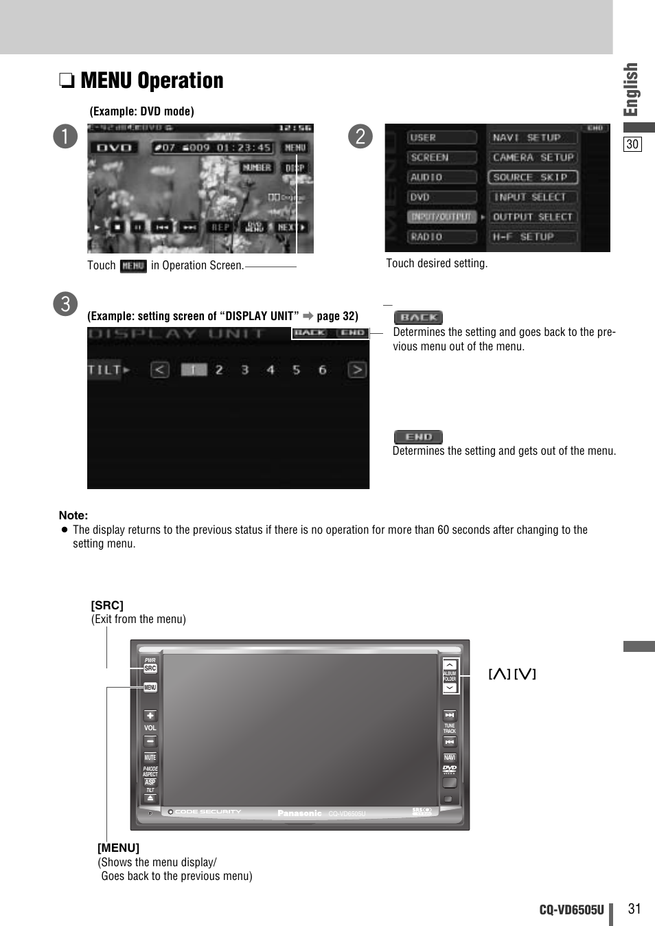 menu operation, english panasonic cq vd6505u user manual page 31 Car Stereo Color Wiring Diagram menu operation, english panasonic cq vd6505u user manual page 31 52