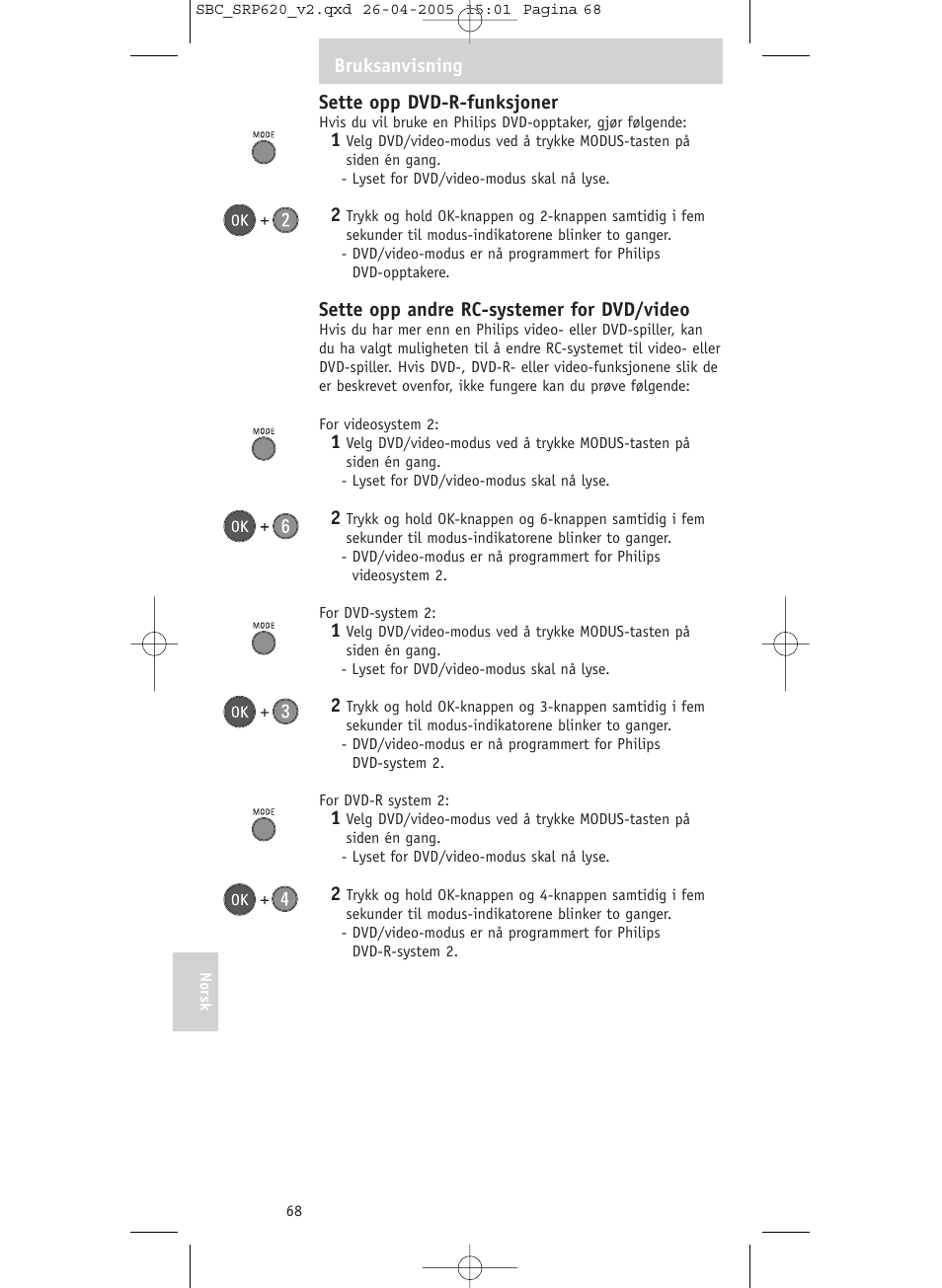 5b6540fff Philips SRP620 User Manual | Page 68 / 76 | Also for: Mando a distancia