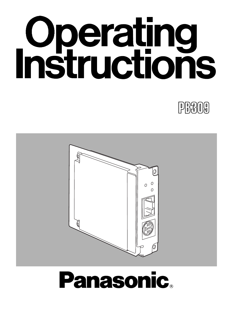 Panasonic AW-PB309P User Manual | 20 pages