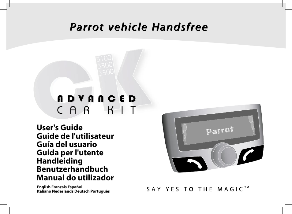 Parrot Ck3100 User Manual