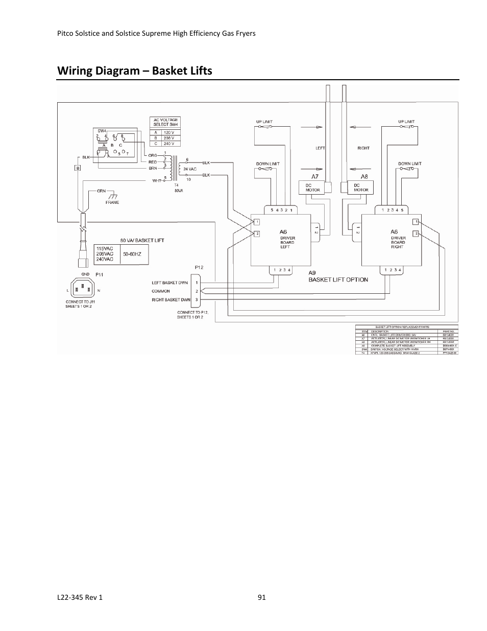 Wiring Diagram  U2013 Basket Lifts