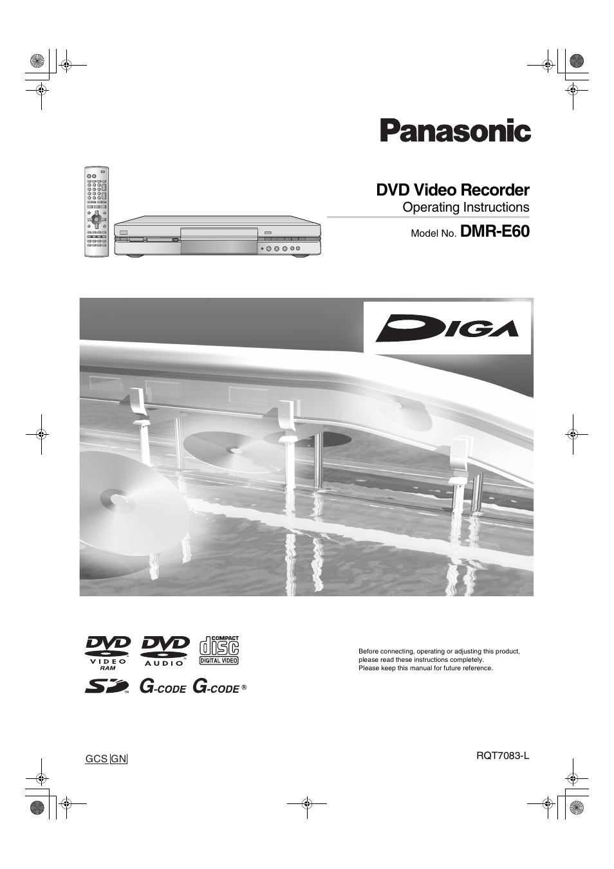 panasonic dmr e60 user manual 74 pages rh manualsdir com Panasonic DVD Recorder Panasonic DVD Recorder