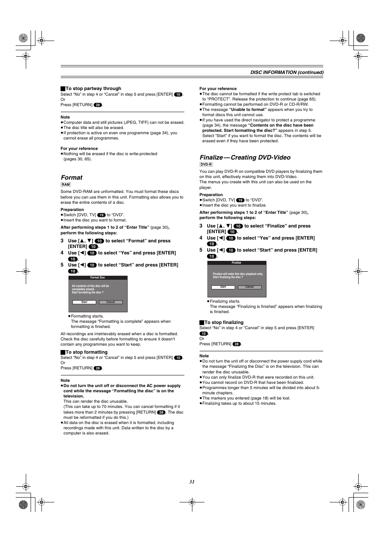 format finalize creating dvd video panasonic dmr e60 user rh manualsdir com Panasonic DMR EZ48V Recorder Panasonic DMR EZ48V Recorder