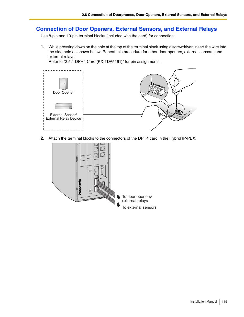 Panasonic Hybrid Ip Pbx Kx Tda50 User Manual Page 119 158 Wiring Diagram 155