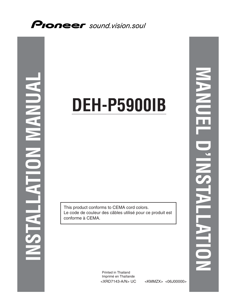 Pioneer Deh P5900ib Installation Manual 1200mp Wiring Diagram Inst Alla Tion Manuel D Rh Manualsdir Com X1910ub Schematic For