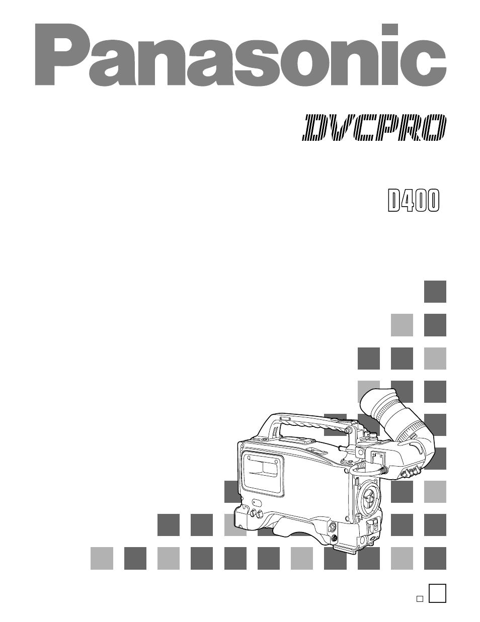 Panasonic Aj D400 User Manual 128 Pages