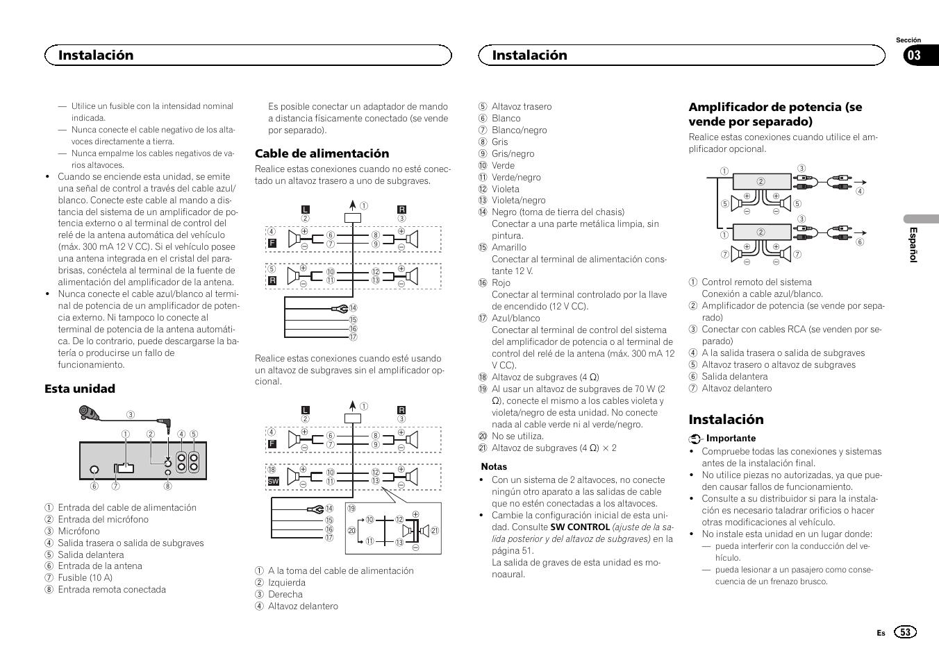 instalaci n instalaci n 03 pioneer cd rds receiver deh 7300bt rh manualsdir com