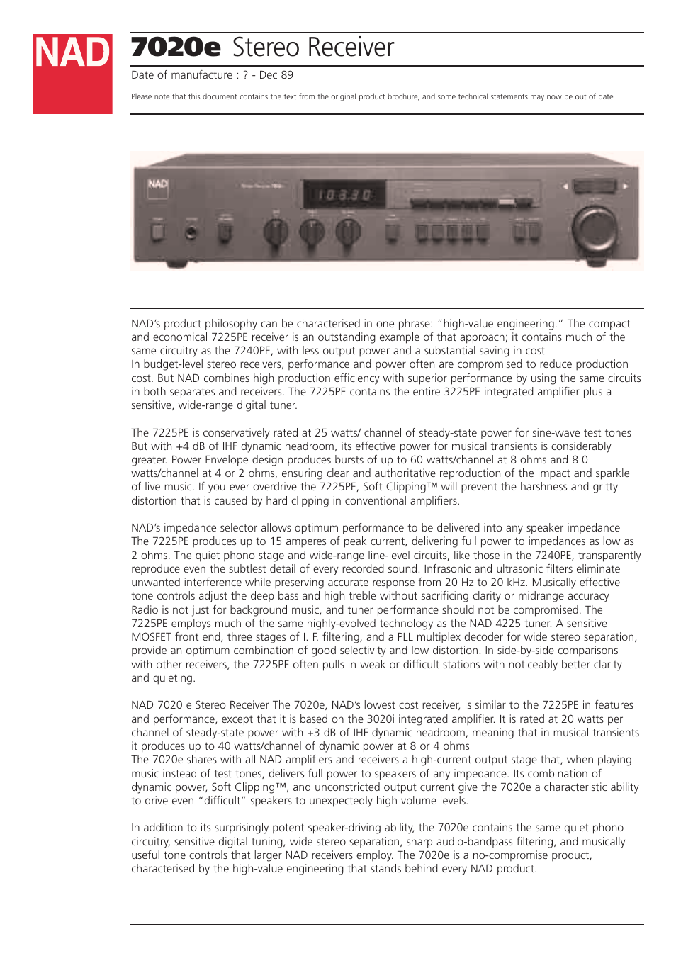 Nad 162 User Guide