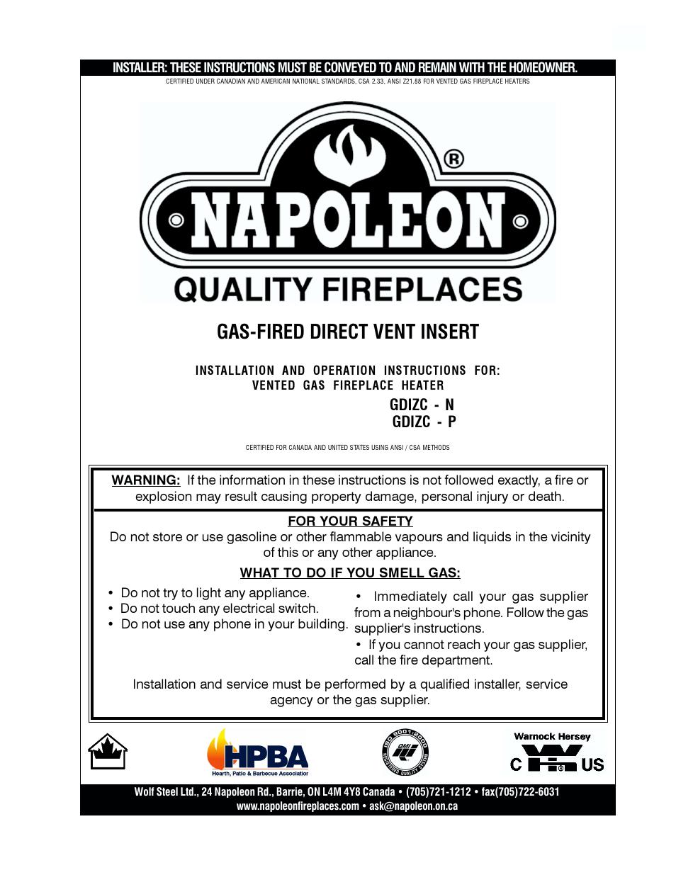 Napoleon Fireplaces Gdizc