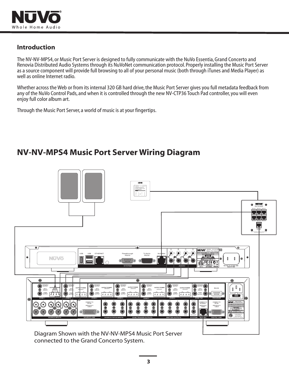 Wiring Diagram Nv Mps4 Music Port Server Your Home For Introduction Nuvo User Manual Page 7 24