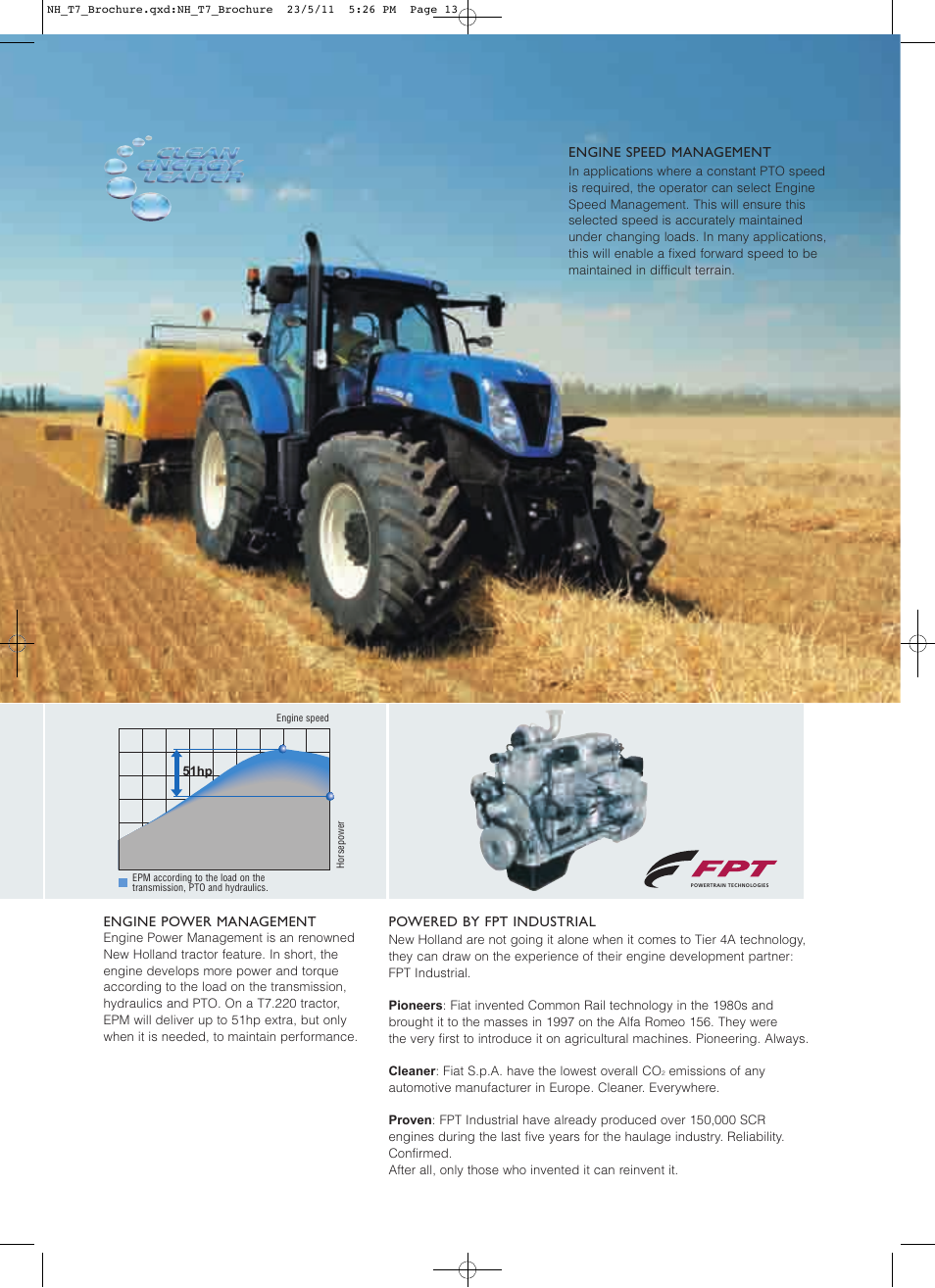 New Holland T7 235 User Manual | Page 13 / 28 | Original