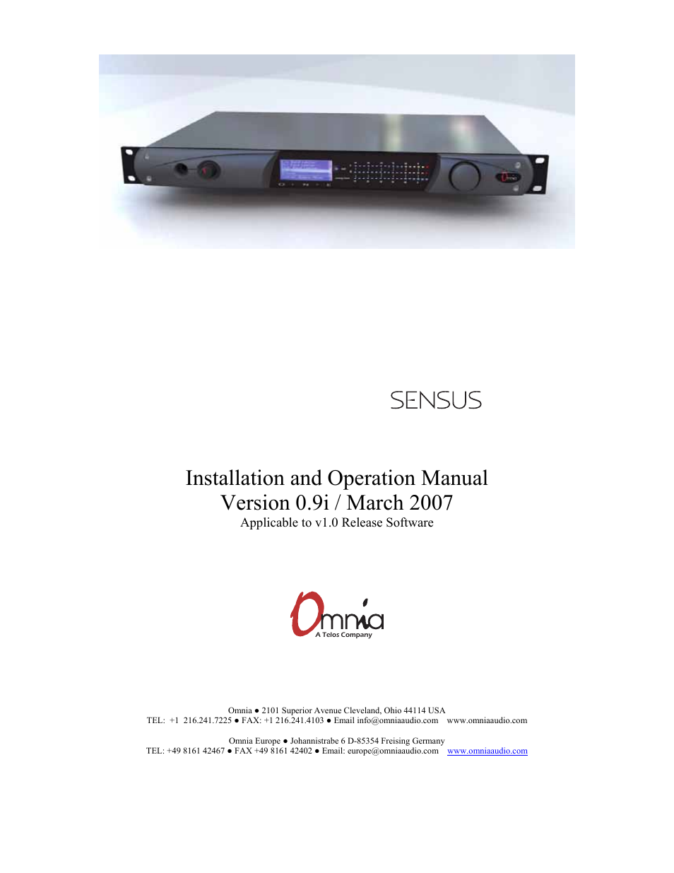 new media technology omnia one multicast user manual 61 pages rh manualsdir com bentel omnia 4 user manual omni user manual k10048254