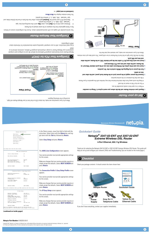 netopia 3300 ent user manual 2 pages also for 3347 02 ent 3357 rh manualsdir com Netopia 3347 Netopia 3000