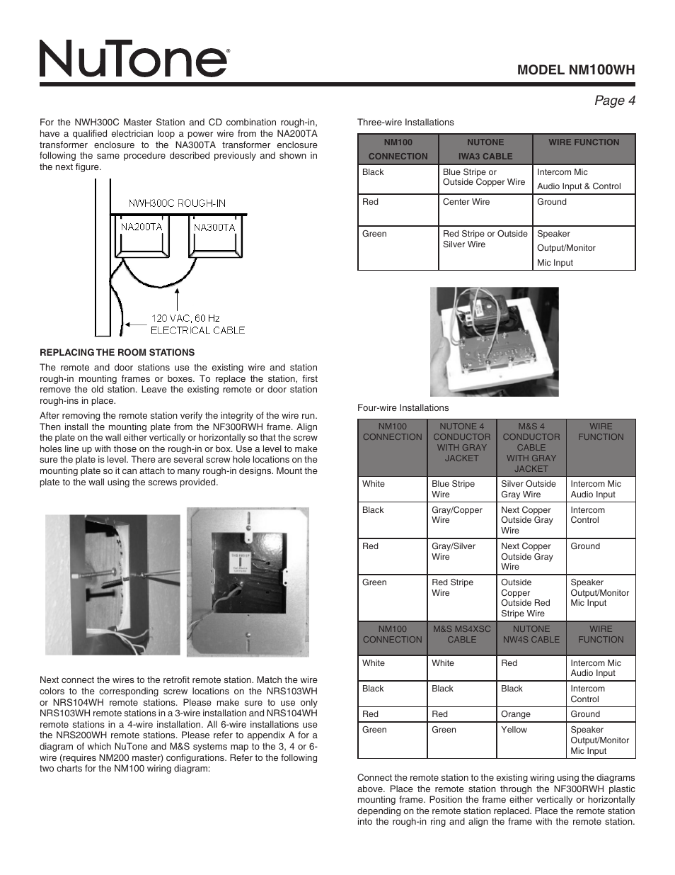 Nutone Nrs103wh Intercom Wiring Diagram Data Expertise Model Nm Wh Page Nm100wh User Manual 4 32