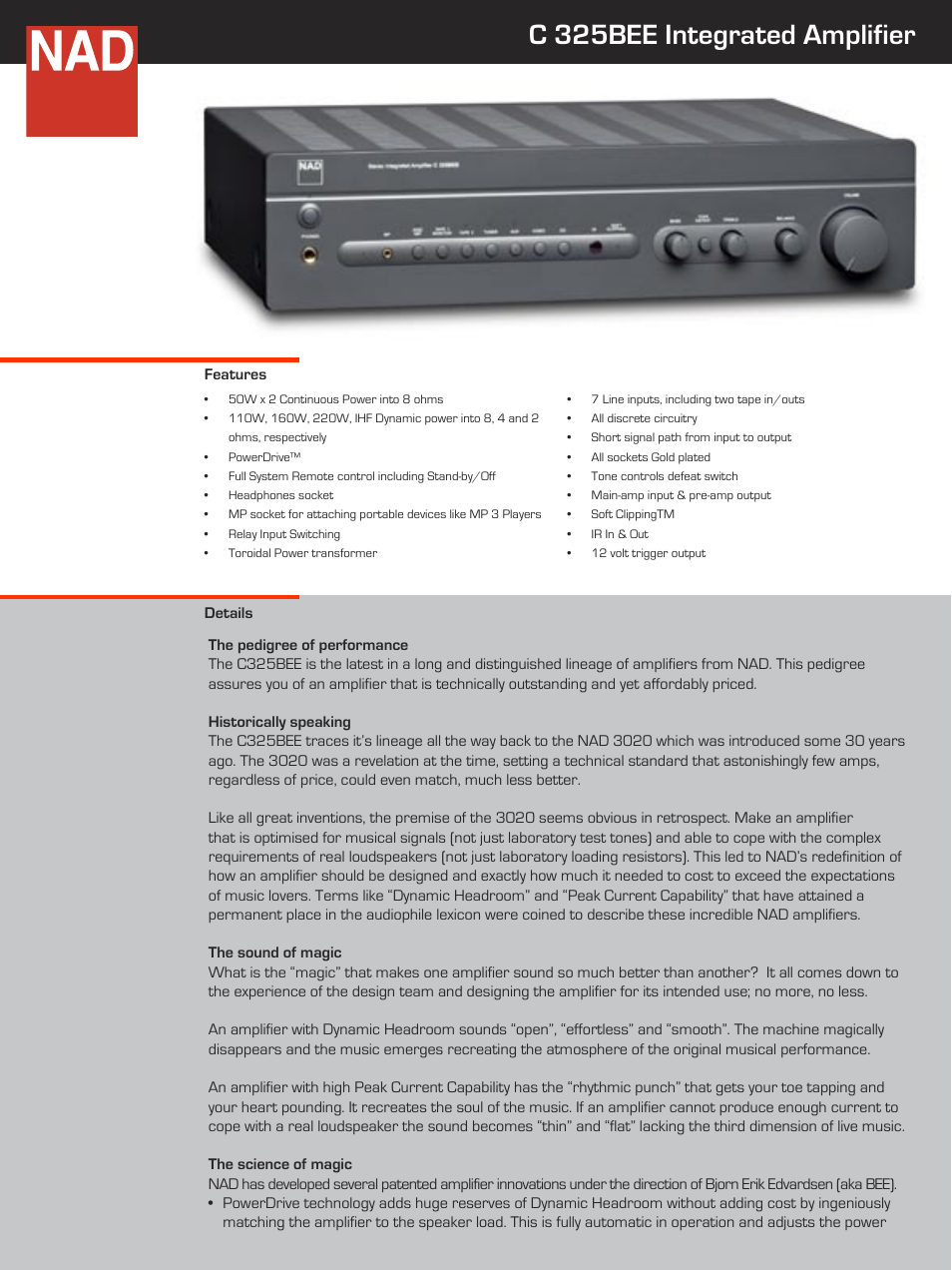 Nad C 325bee User Manual 2 Pages Inserting A Tone Control Between Preamp And Power Amp