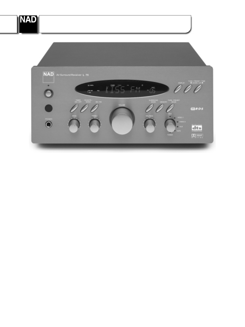 NAD L75 User Manual | 2 pages