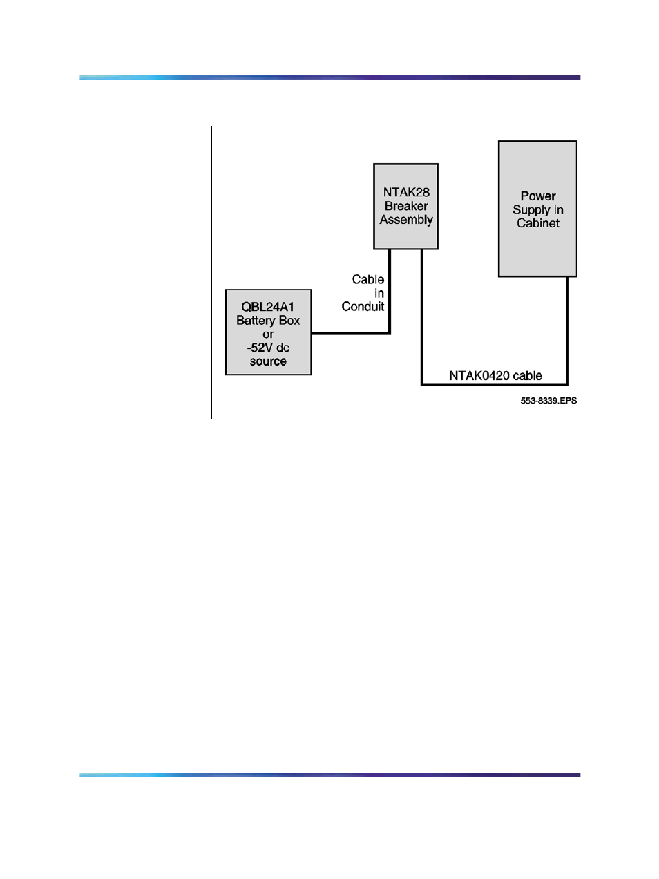 Figure 71 Ntak28 Breaker Assembly Location Nortel Networks 1000m Battery Backup Circuit Page 1 User Manual 157 474