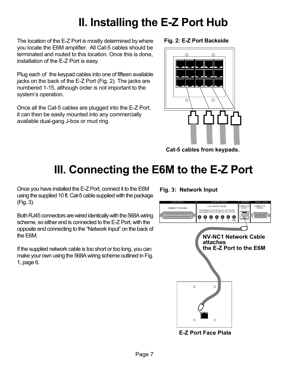 Ii Installing The E Z Port Hub Iii Connecting E6m To 568a Wiring Scheme Nuvo Nv E6xs User Manual Page 9 19