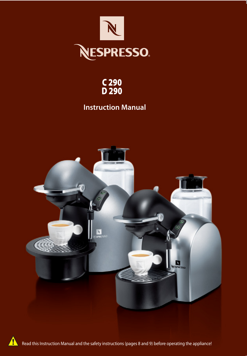 Nespresso Coffee Maker Manual : Nespresso D290 User Manual 10 pages Also for: C290