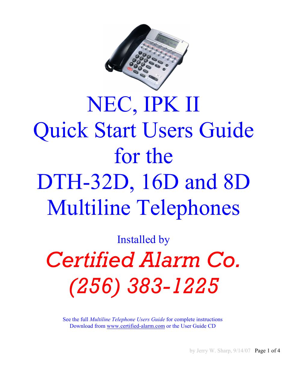 nec 16d and 8d user manual 4 pages rh manualsdir com