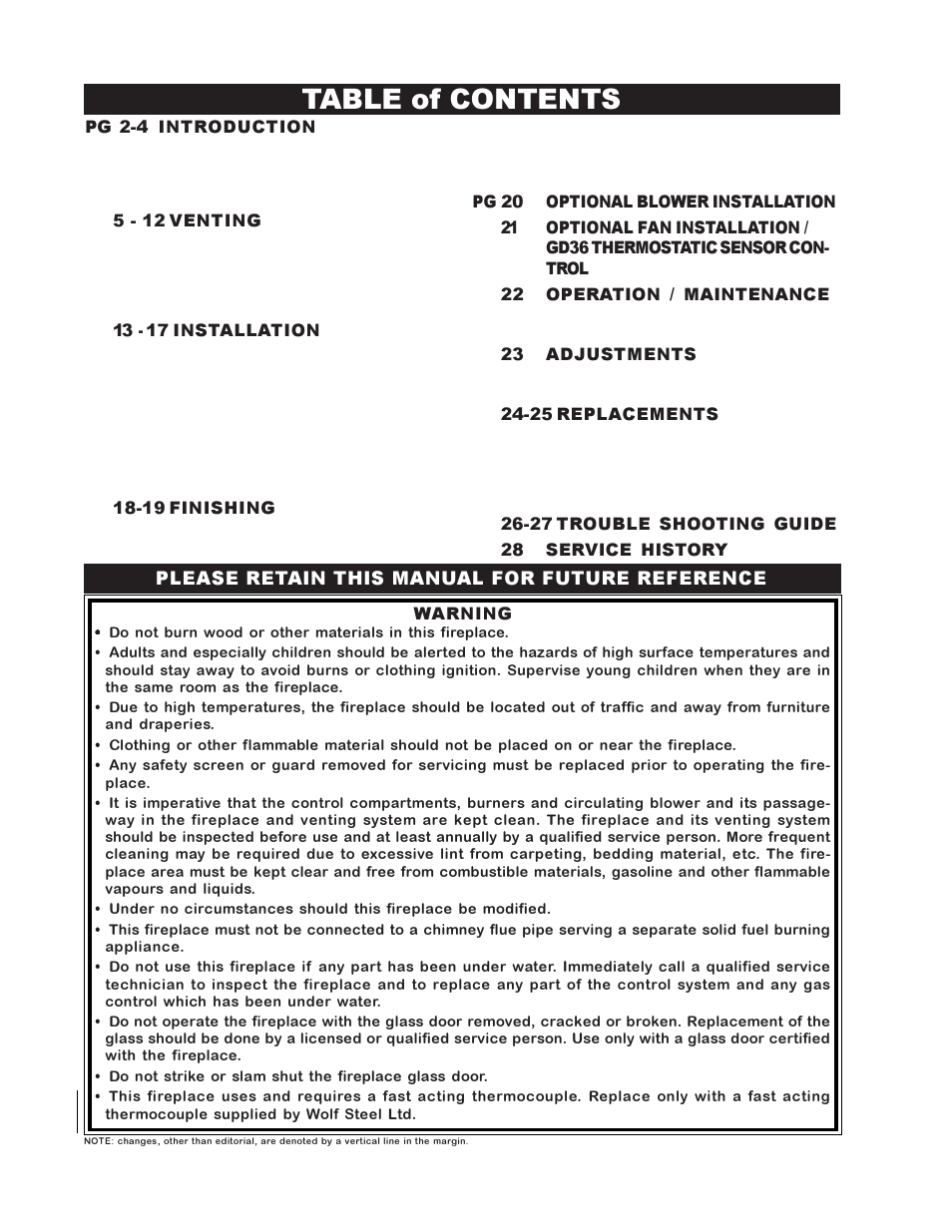 Napoleon Fireplaces BGD38PT User Manual | Page 2 / 28 | Also for: BGD38NT