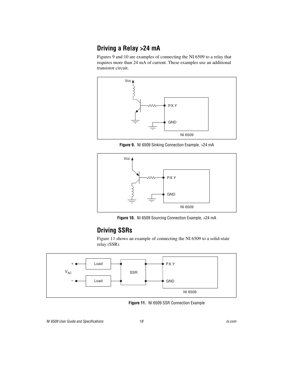 driving a relay 24 ma driving ssrs figure 11 ni 6509 ssr connection example national instruments ni 6509 user manual page 18 23