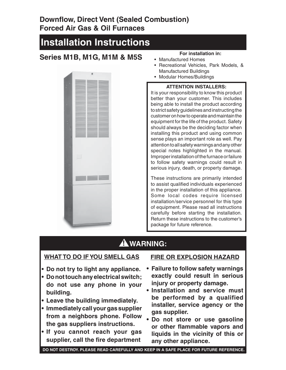 Nordyne downflow direct vent forced air gas oil furnaces series m1b nordyne downflow direct vent forced air gas oil furnaces series m1b user manual 40 pages also for downflow direct vent forced air gas oil furnaces and publicscrutiny Choice Image