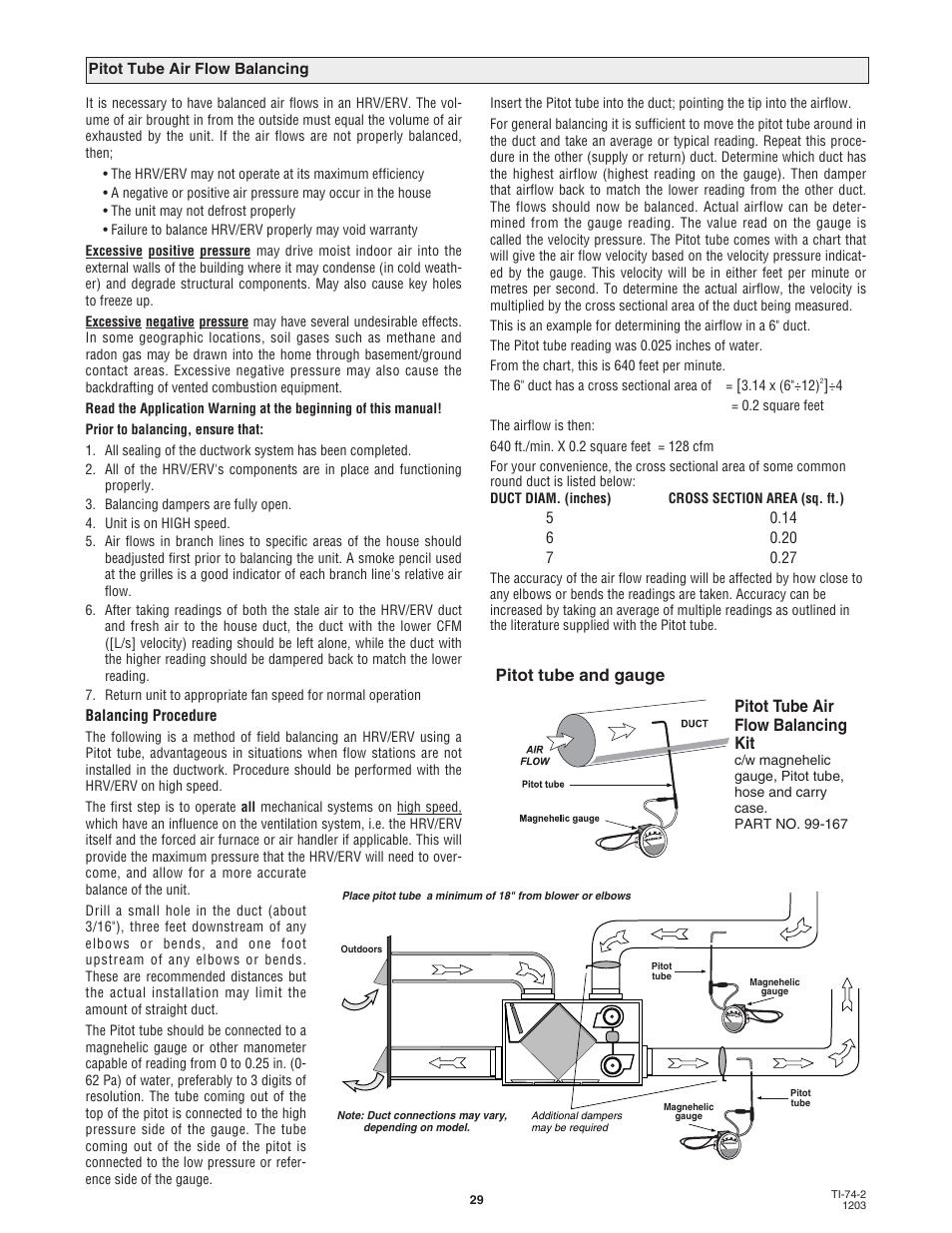 Pitot Tube And Gauge Pitot Tube Air Flow Balancing Kit Lifebreath