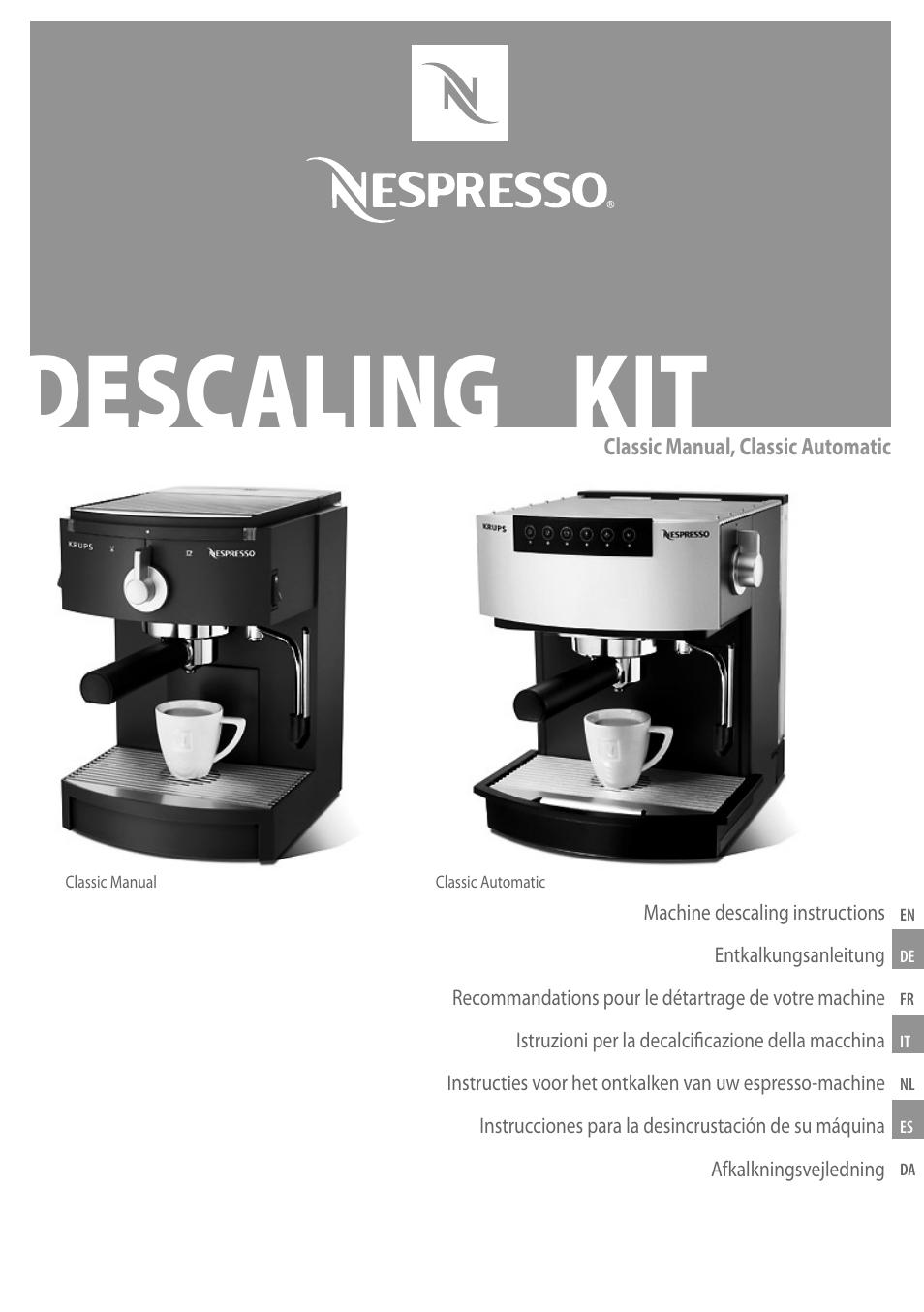 nespresso coffeemaker user manual 11 pages original mode rh manualsdir com Nespresso Pixie Manual Nespresso C190 User Manual