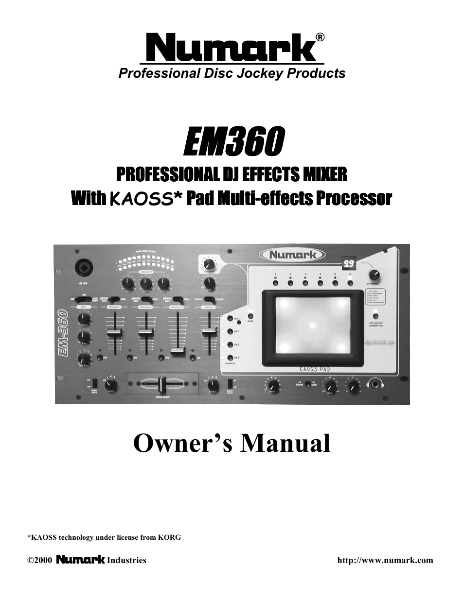 numark industries em360 user manual 12 pages rh manualsdir com