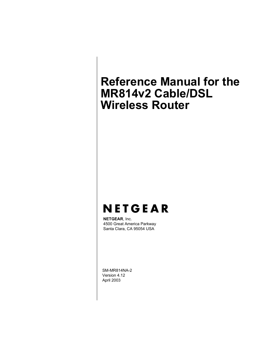 netgear mr814v2 user manual 142 pages rh manualsdir com netgear mr814v2 firmware upgrade download netgear wireless router mr814v2 manual