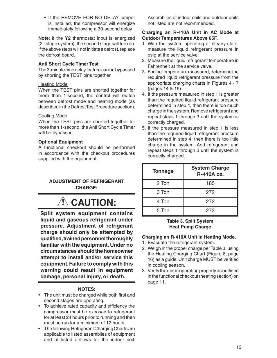 Caution | Nordyne Outdoor Heat Pump Two Stage Split System R-410A