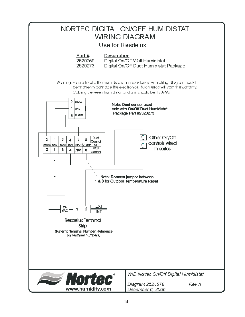 Nortec RESDELUX User Manual   Page 17 / 22   Original mode on