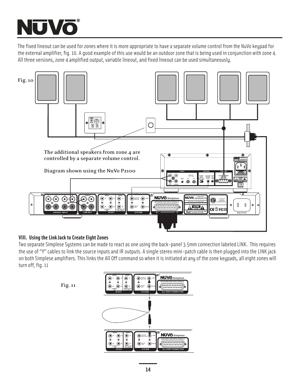nuvo simplese nv a4ds uk page17 fixed lineout and link, viii using the link jack nuvo simplese nuvo simplese wiring diagram at virtualis.co