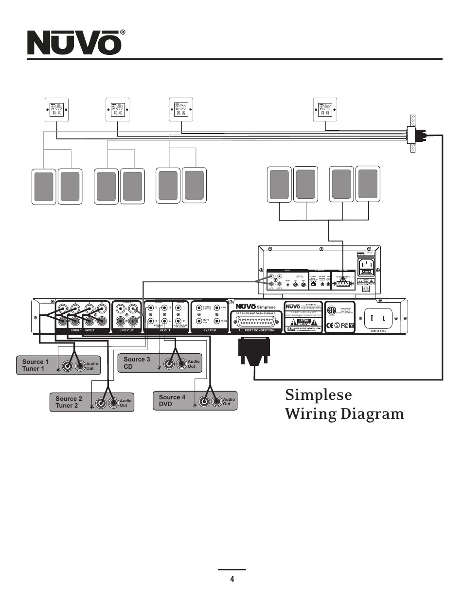 nuvo simplese nv a4ds uk page7 wiring diagram, simplese wiring diagram, use only with 250v fuse