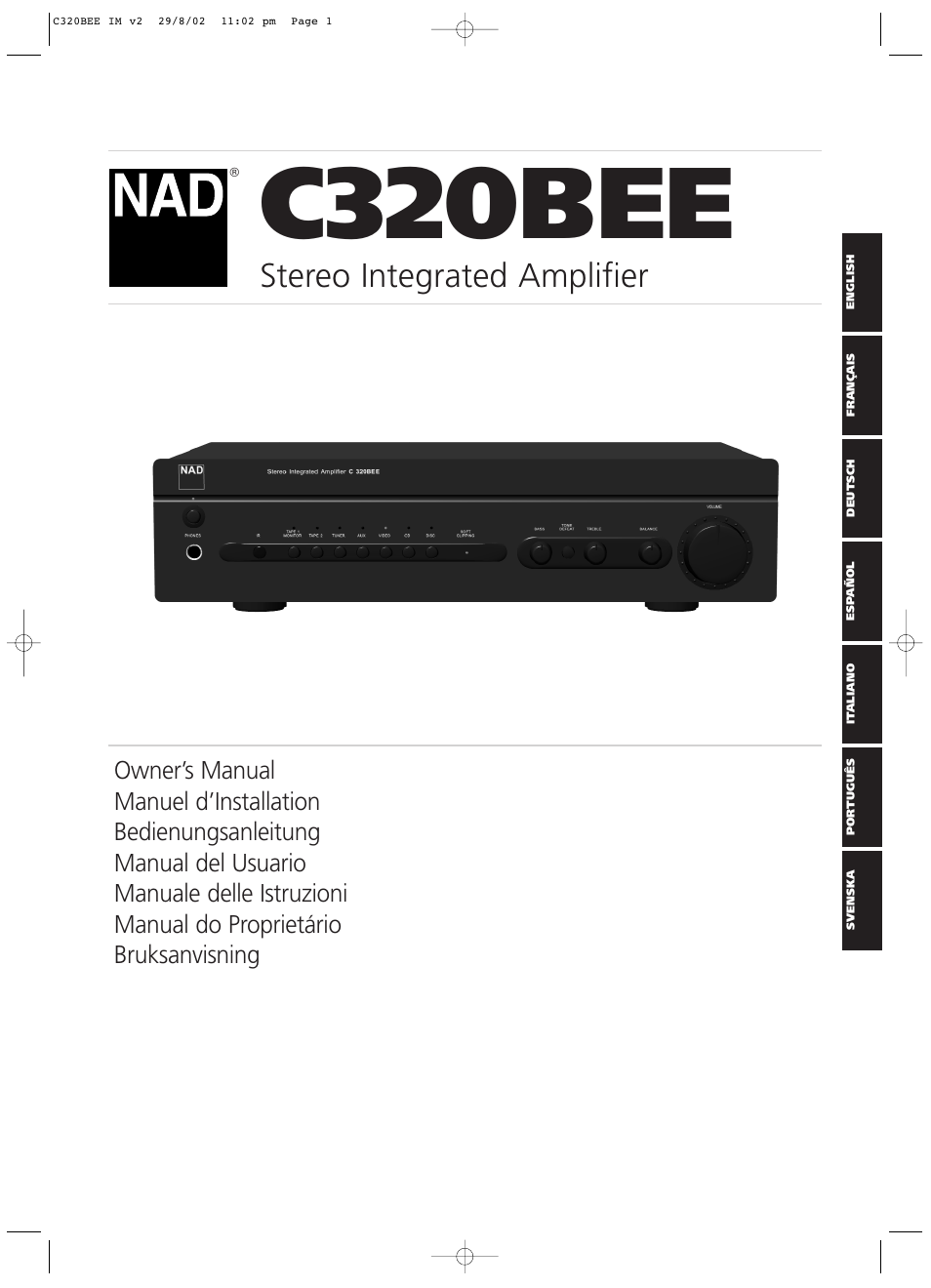 NAD C320BEE User Manual | 46 pages