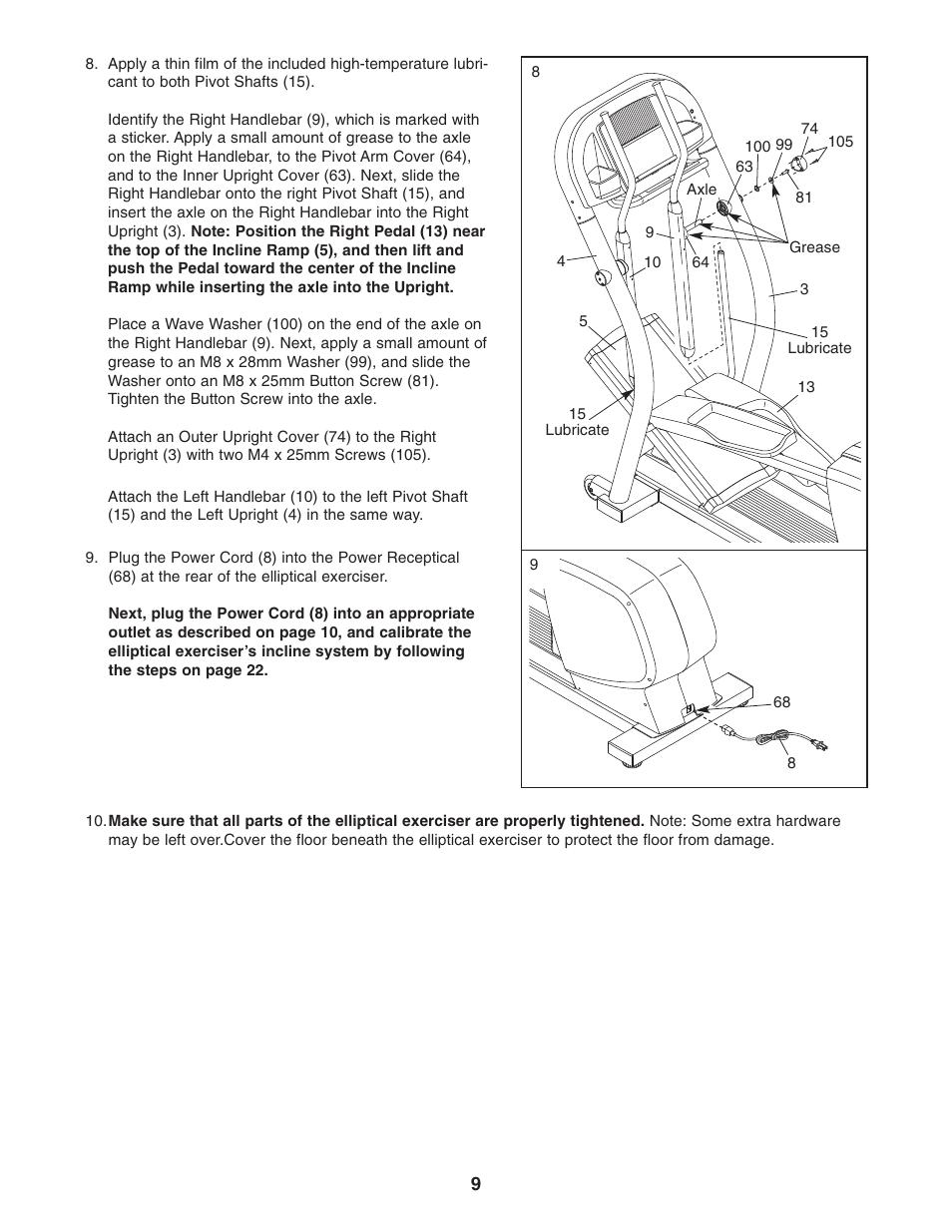 nordictrack cx 1055 elliptical exerciser 30508 0 user manual page rh manualsdir com nordictrack cx 1055 elliptical manual NordicTrack Elliptical Manual