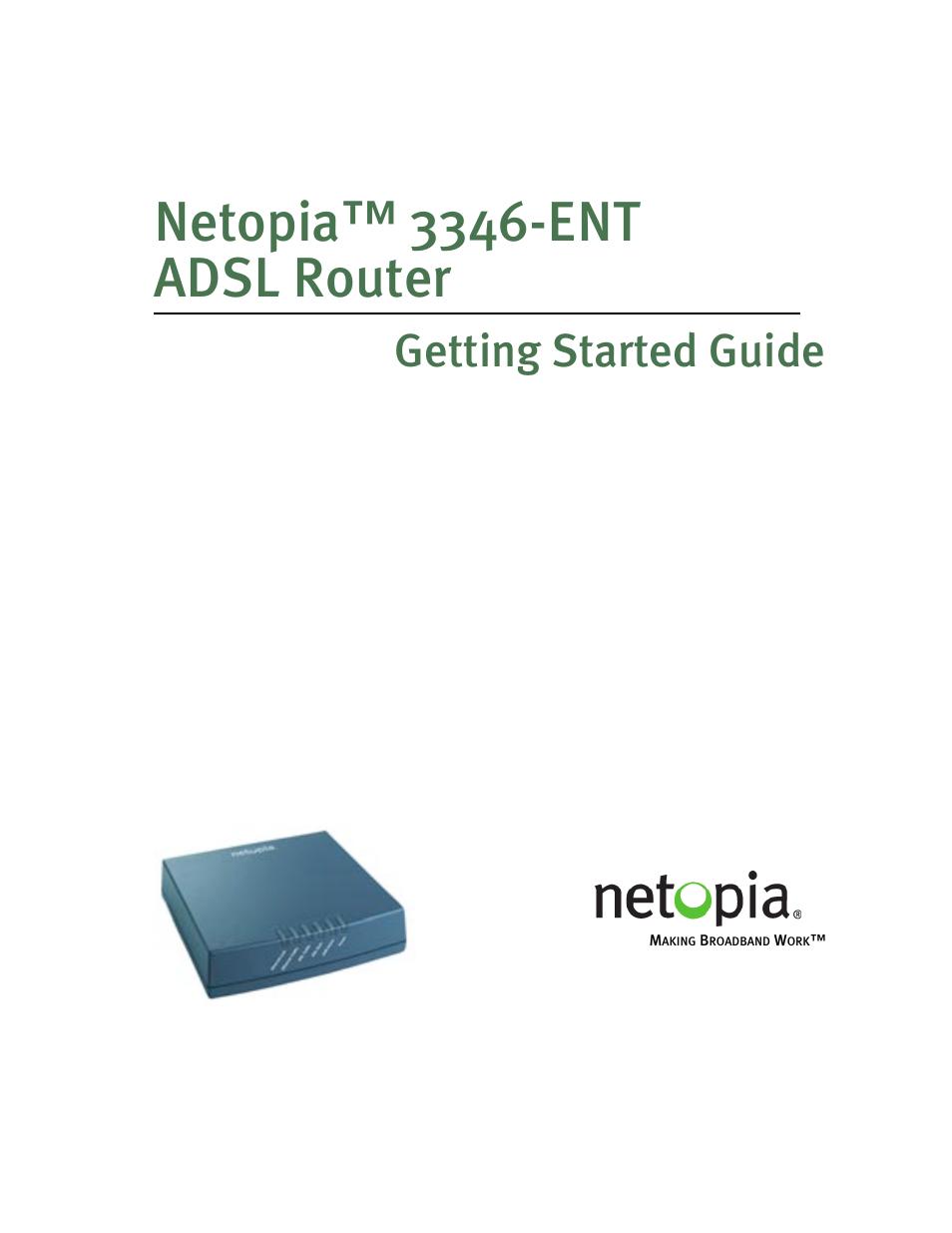 netopia 3346 ent user manual 38 pages rh manualsdir com Netopia DSL Modem Router Netopia 3366C