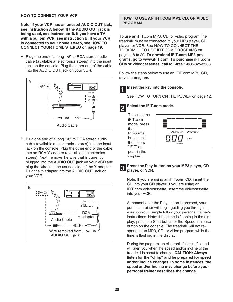 NordicTrack C2050 NTL10951 User Manual | Page 20 / 34