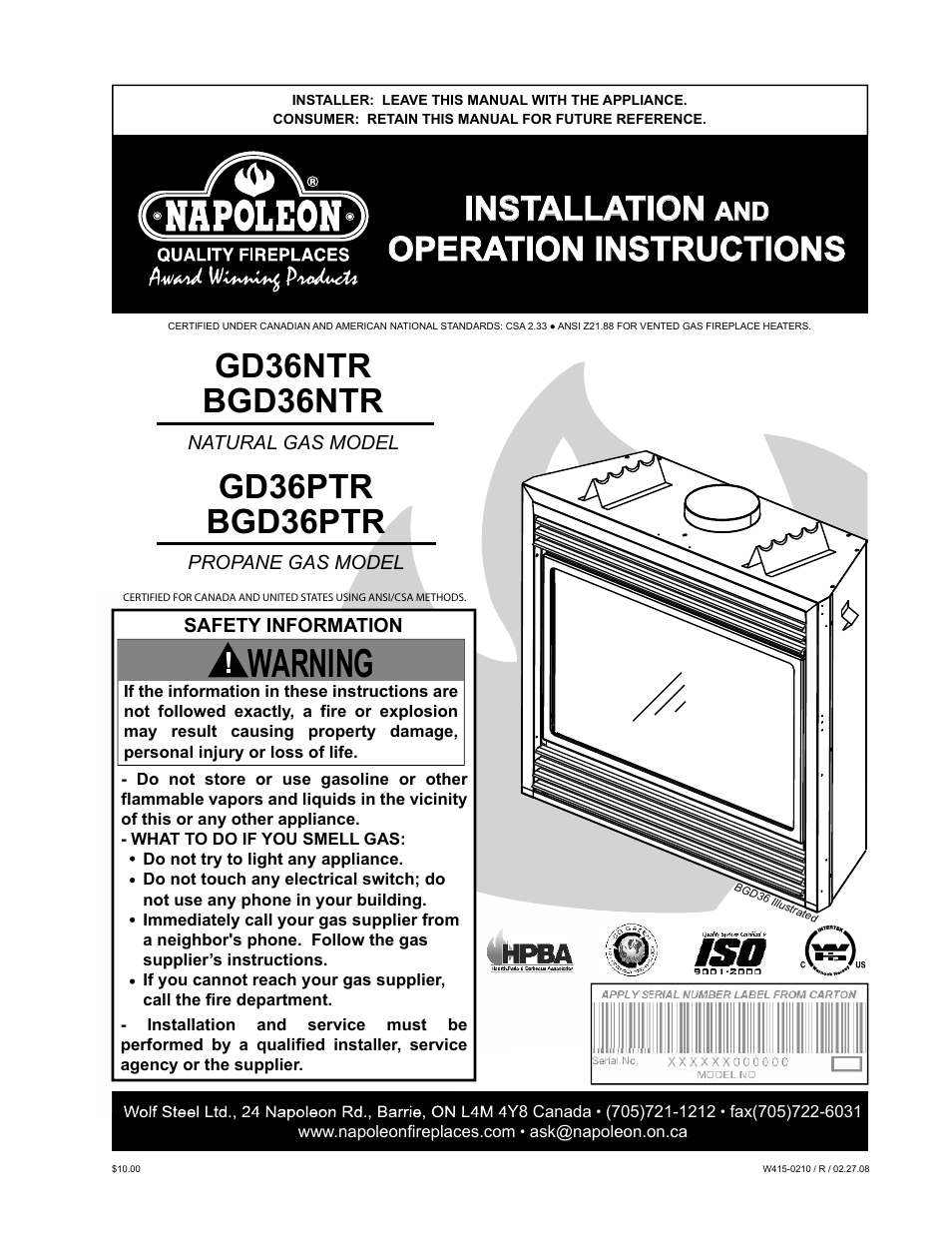 Napoleon fireplaces gd36ptr user manual 36 pages also for napoleon fireplaces gd36ptr user manual 36 pages also for bgd36ptr bgd36ntr gd36ntr asfbconference2016 Image collections
