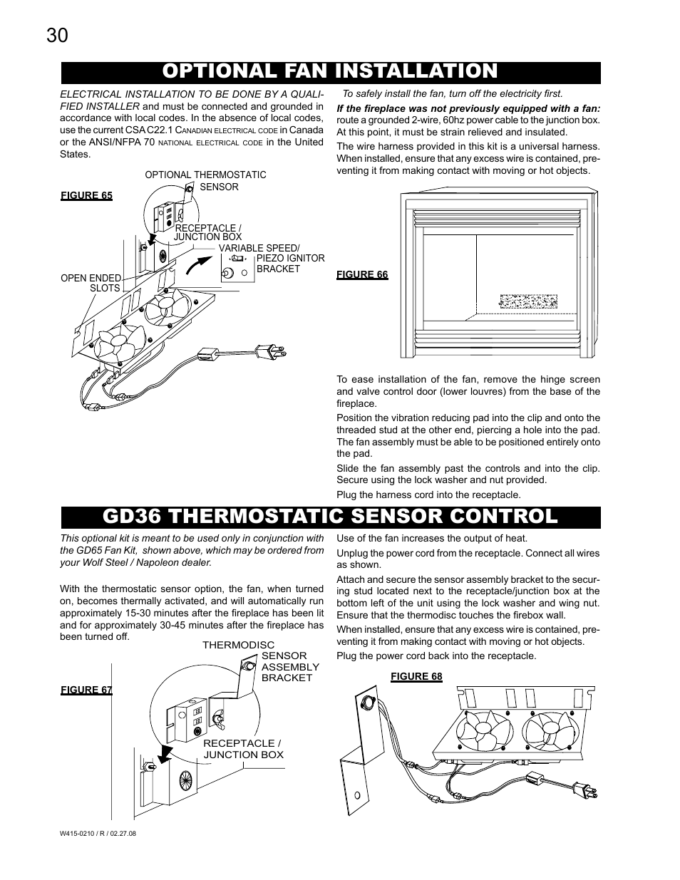 Napoleon Fireplaces Gd36ptr User Manual
