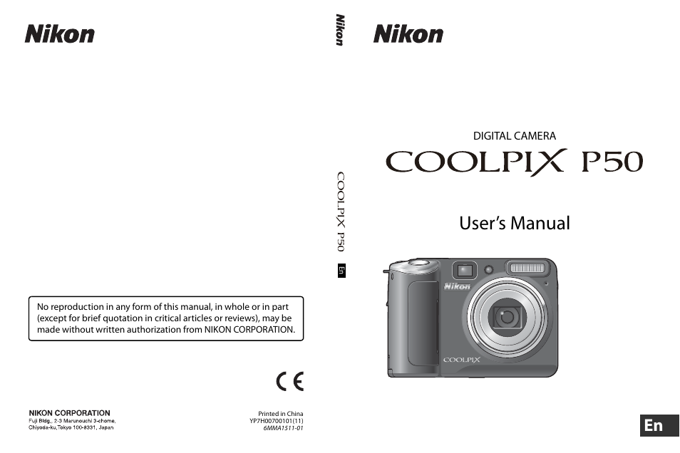 nikon coolpix p50 user manual 152 pages also for p50 rh manualsdir com nikon coolpix p50 instruction manual nikon coolpix p50 user manual